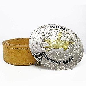 Cinto de Couro com Fivela Country SC1423