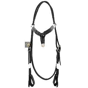 Cabeçada Lux Horse Couro Trançado SC2405