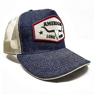 Boné Country American Longhorn Brand Blue SC4072