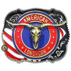 Fivela Country American Longhorn America Rodeio SC1763