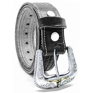 Cinto de Couro com Fivela Tradicional American Longhorn SC1593
