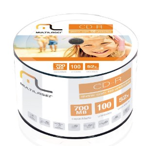 CD-R Gravavel Com 100 Unidades R.CD100 Multilaser