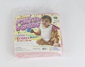 Fralda Luxo Pinte Borde Rosa Com 5 Peças R.027638 Incomfral