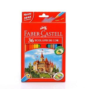 Lapis De Cor 36 Cores Sextavado Faber Castell 120136G