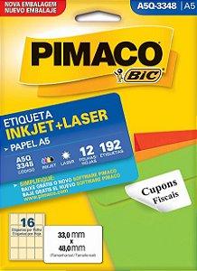 Etiqueta Inkjet/Laser A5Q-3348 Pimaco