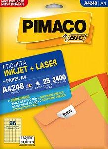 Etiqueta A4 InkJet/Laser A4248 Pimaco