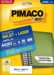 Etiqueta A4 Ink Jet A4262 Pimaco