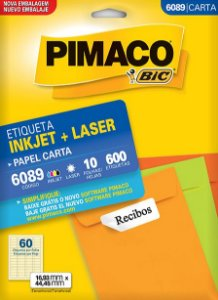 Etiqueta Inkjet/Laser Carta 6089 Pimaco