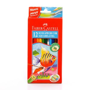 Lápis De Cor 12 Cores Aquarelavel 120212G Faber Castell