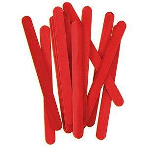 Palito De Sorvete Vermelho Pacote Com 100 Unidades Theoto 1136112
