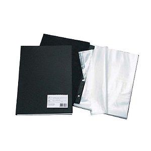 Pasta Catálogo A4 C/10 Plásticos Finos Preta Dac 1028