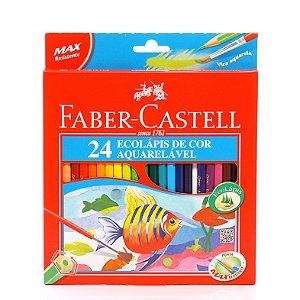 Lapis De Cor 24 Cores Aquarelavel 120224G Faber Castell