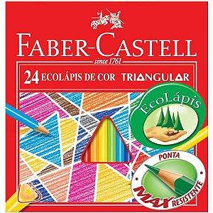 Lápis De Cor 24 Cores Triangular 120524 Faber Castell