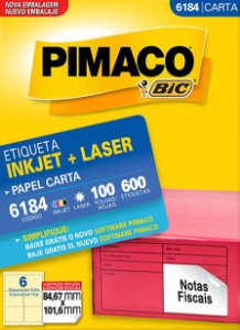 Etiqueta Inkjet/Laser Carta 6184 Pimaco