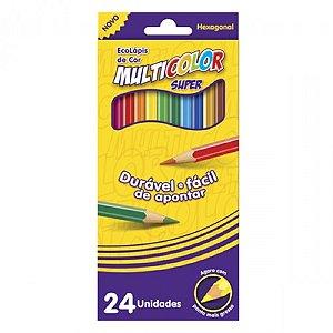 Lapis De Cor 24 Cores Multicolor Super 11.2400N Faber Castell