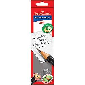 Lápis Grafite Max Sem Borracha Com 12 Unidades 1205SM/12 Faber Castell