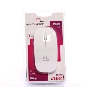 Mouse USB Colors Slim Ice Piano Multilaser MO168