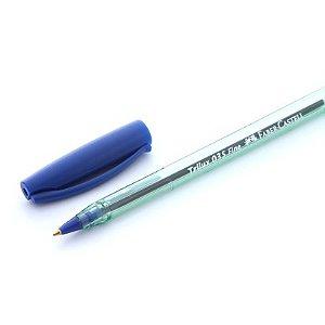 Caneta Trilux Ponta Fina Azul Faber Castell TRIPF/AZ
