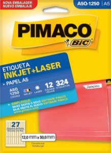 Etiqueta Inkjet/Laser A5R-1250 Pimaco