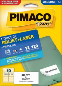 Etiqueta Inkjet/Laser A5Q-3465 Pimaco
