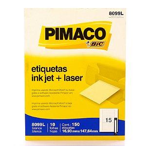 Etiqueta Inkjet/Laser Carta 8099L Pimaco