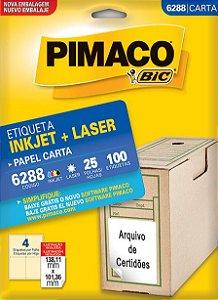 Etiqueta Inkjet/Laser Carta 6288 Pimaco