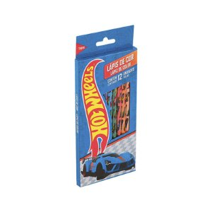 Lapis De Cor 12 Cores Hot Wheels R.643915 Tris