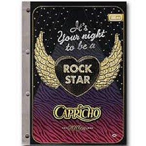 Bloco Universitário Para Fichario 96 Folhas Capricho Rock R.137677 Tilibra