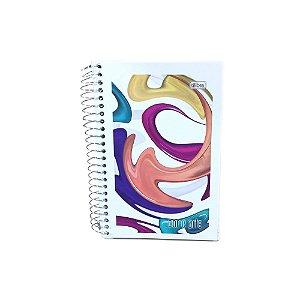 Caderneta Espiral Capa Flex 1/8 96 Folhas Cor & Arte R.110566 Tilibra