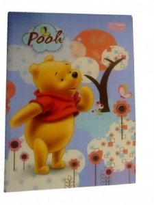 Caderno Brochura 1/4 Pooh Capa Dura 96 Folhas 136191 Tilibra