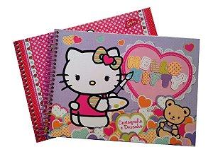 Caderno Cartografia E Desenho 96 Folhas Hello Kitty R.148806 Grafons