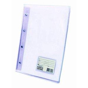 Pasta Catalogo A4 Diamante Transparente Com 10 Plastico Grosso R.5028TR Dac
