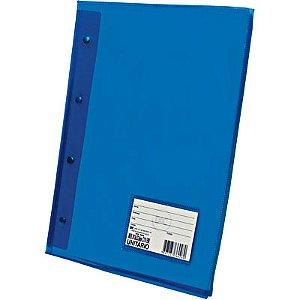 Pasta Catalogo A4 Diamante Azul Com 10 Plastico Grosso R.5028AZ Dac