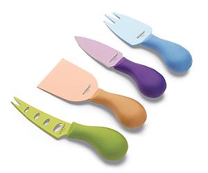 Kit Para Queijos Com 4 Peças Color R.KN1738 Ricaelle