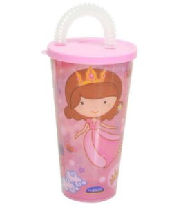 Copo Com Canudo 430ml Baby Princess R.7090 Plasutil