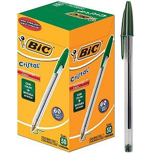 Caneta Cristal 1.0 Verde Com 50 Unidades R.1101070 Bic