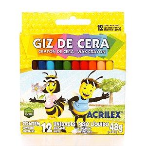 Giz de Cera 12 Cores R.09012 Acrilex