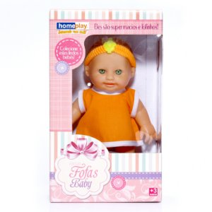Boneca Fofas Baby R.3105 HomePlay