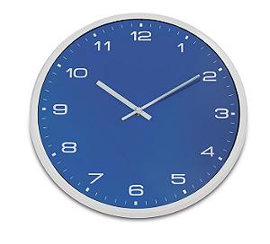 Relógio de Parede Colors 33cm Azul R.EG6943AZ Ricaelle