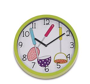 Relógio de Parede Kitchen I 25cm Verde R.EG6910A-HF70VD Ricaelle