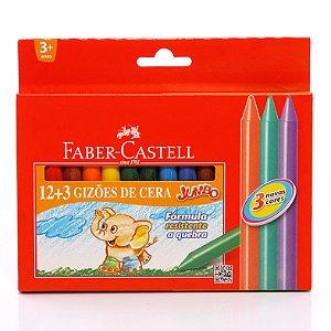 Gizão De Cera 12 Cores Faber Castell  HT141115