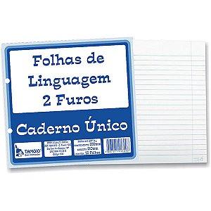 Folha Pautada Para Linguagem Com 50 Folhas Tamoio R1709
