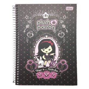 Caderno Universitário 1x1 Plush Poison Tilibra 129470