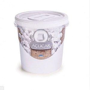 Pote Rosca Decorado Açúcar 1,8 Litros R.6400 Plasutil