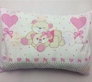 Fronha Para Travesseiro de Bebê Estampa Ursinha R.80084 Incomfral