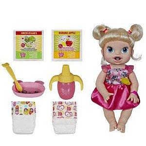 Boneca Baby Alive Hora de Comer Loira R.A7022 Hasbro