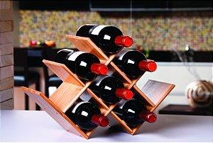 Adega Para Vinho em Bamboo R.8444 Mor