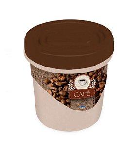 Pote Rosca Decora Café 1,8 Litros R.6399 Plasutil