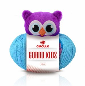 Lã Gorro Kids Coruja Cor 8604 100 Gramas R.315001/8604 Circulo