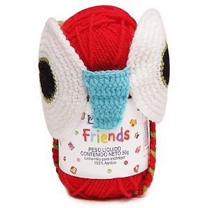 Cisne Friends Gorro Coruja Cor 002 Vermelho  R.772PCOR-00002 Coats Corrente
